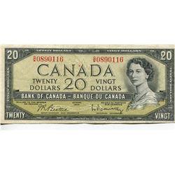 1954 $20 CNDN BILL, BEATTIE/RASMINSKY