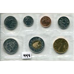 1997 CNDN SPECIMEN SET COINS, (PENNY TO DOLLAR)