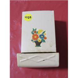 1 ANTIQUE STICK MATCH HOLDER & BOX OF EDDY MATCHES