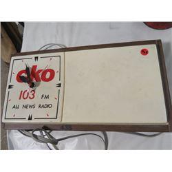"""CKO 103 FM CLOCK (9.75"""" X 18.5"""")"""
