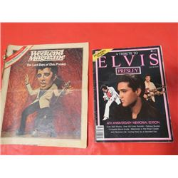 3 POSTERS OF ELVIS, (FOLDED)