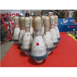 10 BOWLING PINS FROM SPORTSMAN BOWL PA, SK