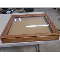 "WOODEN DISPLAY CASE (23""X3""X19"")"