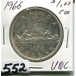 1966 CNDN SILVER DOLLAR UNC
