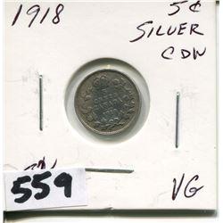 1918 CNDN SMALL SILVER NICKEL