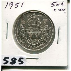 1951 CNDN 50 CENT PC