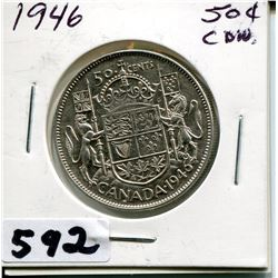 1946 CNDN SILVER 50 CENT PC