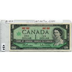 1967 CNDN CENTENNIAL ONE DOLLAR NOTE