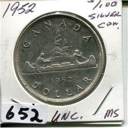1952 CNDN SILVER DOLLAR