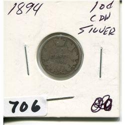 1894 CNDN SILVER DIME