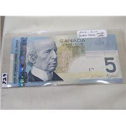 2010 CNDN FIVE DOLLAR NOTE J(ENKINS/CARNEY)