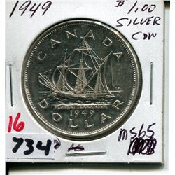 1949 CNDN SILVER DOLLAR