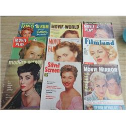 LOT OF MOVIE STAR MAGAZINES, (MODERN SCREEN, SILVER SCREEN, ETC)