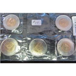 2011 BOREAL FIVE MINT COIN SET