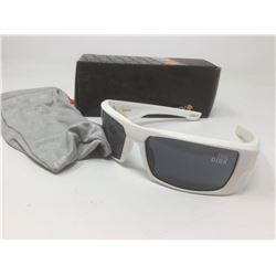 "White Spy Sunglasses- ""The Dirk"" with case"