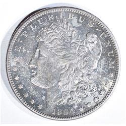 1884-S MORGAN DOLLAR BU TONED