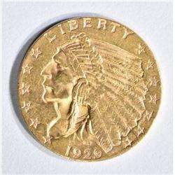 1929 $2.5 GOLD INDIAN BU