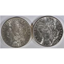 1881-S, & 85-O MORGAN DOLLARS CH BU