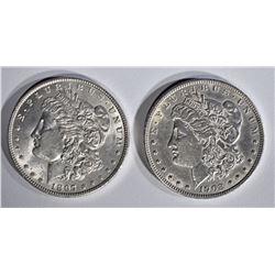1897 BU & 1902 AU/BU MORGAN DOLLARS