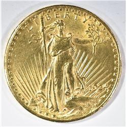 1924 $20 GOLD ST GAUDENS BU