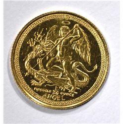1991 1/20 oz .999 GOLD ISLE OF MAN  ANGEL
