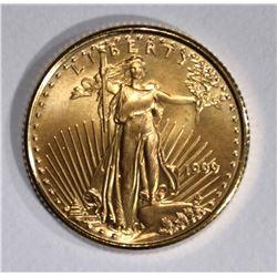 1999 1/10 oz AMERICAN GOLD EAGLE