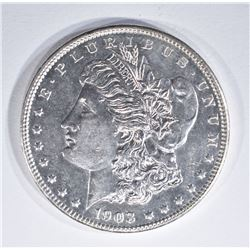 1903 MORGAN DOLLAR  GEM BU DMPL
