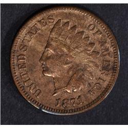 1871 INDIAN CENT FINE