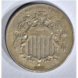 1872 SHIELD NICKEL XF