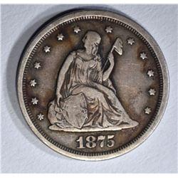 1875-S 20 CENT F/VF