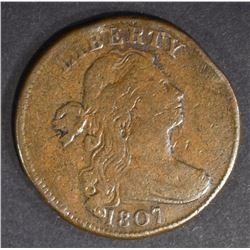 1807 LARGE CENT VF RIM BUMP
