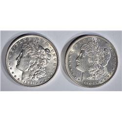 1891 & 1903 MORGAN DOLLARS AU/BU