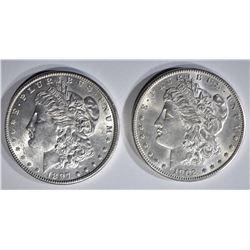 1897 & 1902-O MORGAN DOLLARS CH BU