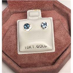 10KT Gold Sapphire Earrings