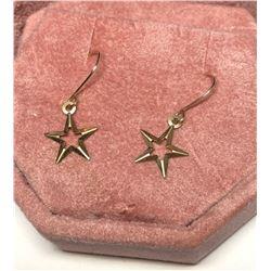 10KT Gold Star Shaped Earrings