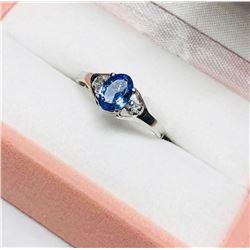 10KT Gold Tanzanite & Diamond Ring Size 6 1/2