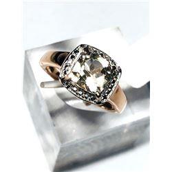 Sterling Silver Morganite Ring Size 6 3/4