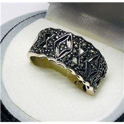 Sterling Silver Marcasite Ring Size 7 1/2