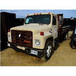 1987 INTERNATIONAL S1700 FLATBED DUMP, VIN/SN:1HTLCHXM8HH491591 - IHC DIESEL ENGINE, 5 SPEED TRANS,