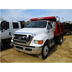 2011 FORD F750 VIN/SN:3FRXF7FJXBV092205 - CUMMINS DIESEL ENGINE, ALLISON A/T, UNUSED 10' OX BODY, 11