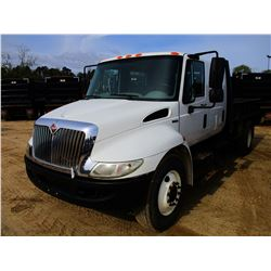 2011 INTERNATIONAL 4300M7 FLATBED DUMP, VIN/SN:1HTJTSKL9BH344903 - S/A, CREW CAB, MAXFORCE INTERNATI
