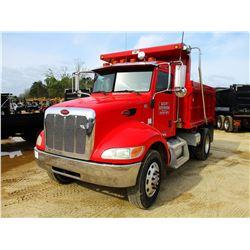 2008 PETERBILT 340 DUMP, VIN/SN:2XPRAN8XX8M765636 - S/A, PACECAR PX8 330 HP ENGINE, 10 SPEED TRANS,