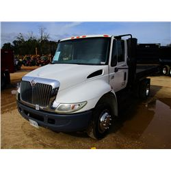 2007 INTERNATIONAL 4300 FLATBED DUMP, VIN/SN:1HTMMAAM17H520834 - S/A, IHC DIESEL ENGINE, 6 SPEED TRA
