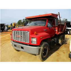 1994 GMC TOP KICK DUMP, VIN/SN:1GDM7H1J5RJ516277 - S/A, CAT DIESEL ENGINE, A/T, 8' WARREN DUMP BODY,