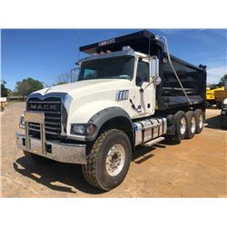 2019 MACK GR64F DUMP, VIN/SN:1M2GR4GC9KM004843 - TRI-AXLE, 455 HP MACK MP8 ENGINE, ALLISON 4500 RDS
