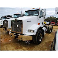 2018 KENWORTH T800 CAB & CHASSIS, VIN/SN:1NKDL40X6JJ213834 - T/A, 500 HP CUMMINS X15 ENGINE, ALLISON