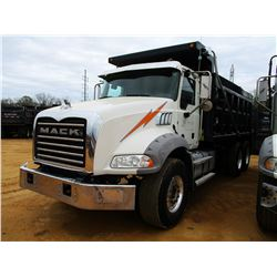 2016 MACK GU813 DUMP, VIN/SN:1M2AX13C8GM061073 - T/A, 405HP MACK MP7 ENGINE, ALLISON 4500RDS, 44K RE