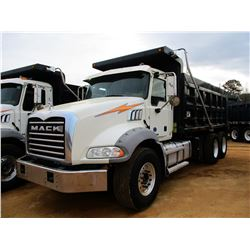 2016 MACK GU813 DUMP, VIN/SN:1M2AX13C2GM060288 - T/A, 405HP MACK MP7 ENGINE, ALLISON 4500RDS A/T, 44