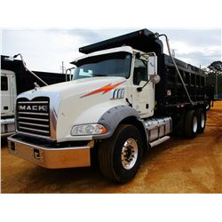 2016 MACK GU813 DUMP, VIN/SN:1M2AX13C1GM061075 - T/A, 405HP MACK MP7 ENGINE, ALLISON 4500RDS A/T, 44