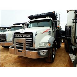 2013 MACK GY813 DUMP, VIN/SN:1M2AX13C4DM021293 - T/A, 405HP MACK MP7 ENGINE, ALLISON 4500RDS A/T, 44